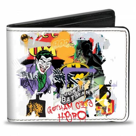 DC Comics Batman VS Joker Graphitti Collage Bi-Fold Wallet