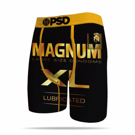 Magnum XL Lubricated Condom Logo Men's Boxer Briefs