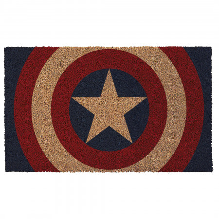 "Captain America Shield 17""x 29"" Doormat with Non-skid Back"
