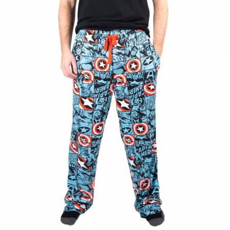 Marvel Captain America AOP Unisex Pajama Sleep Pants