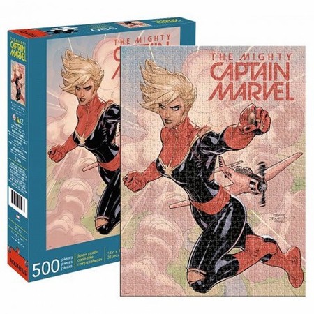 The Mighty Captain Marvel Comic Cover 500 Piece Puzzle