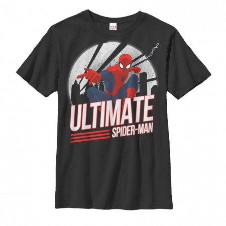 Spider-Man Spidey Action Black Youth T-Shirt