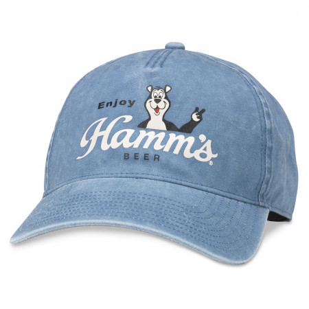Hamm's Beer Classic Sascha Bear w/ Logo Washed Style Adjustable Hat