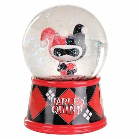 "Harley Quinn Chibi Large 6"" Light Up Snow Globe"