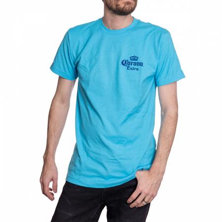 Corona Beach Sunset Blue T-Shirt