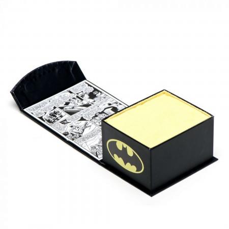 Batman Stainless Steel Recessed Shield Tie Bar