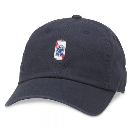 Pabst Blue Ribbon Beer Can Emoji Embroidered Logo Adjustable Hat