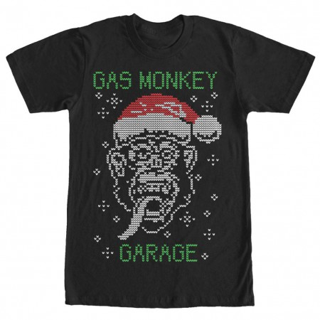 Gas Monkey Garage Knit Monkey Black T-Shirt
