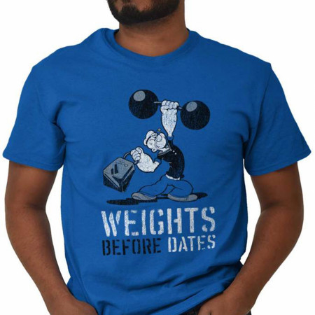 Popeye The Sailor Man Character Weights Before Dates T-Shirt