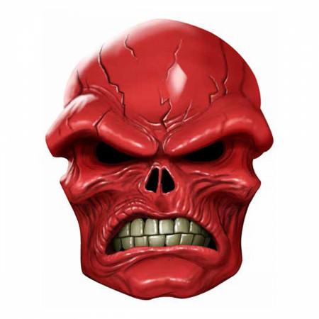Red Skull Latex Adult Costume Mask