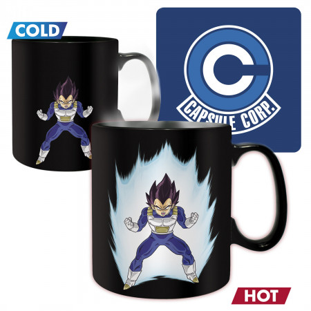 Dragon Ball Z Vegeta Super Saiyan Color Change Mug & Coaster Set