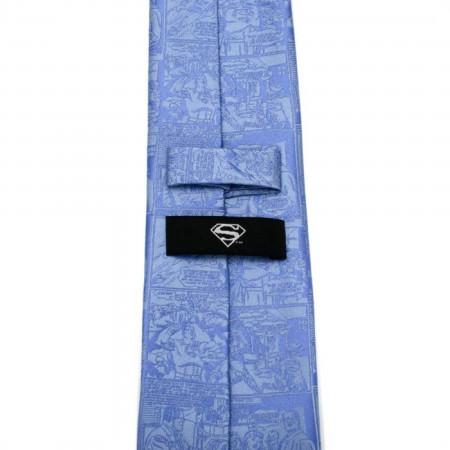 Superman Comic Blue Mens Tie