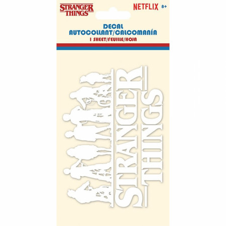 Stranger Things 3 Bikes Silhouette with White Logo Decal