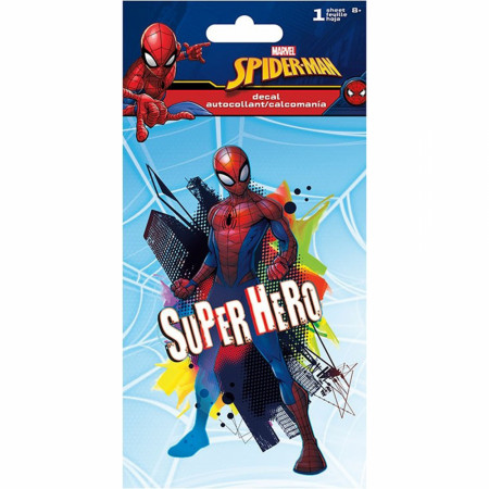 Spider-Man Classic Character Superhero 4-Color Decal Sticker