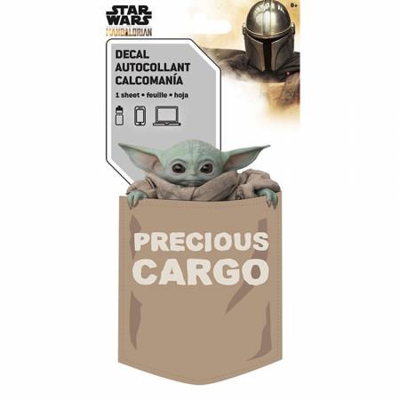 Star Wars The Mandalorian Grogu The Child Precious Cargo Decal Sticker