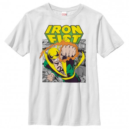 Marvel Teams Iron Punch White Youth T-Shirt