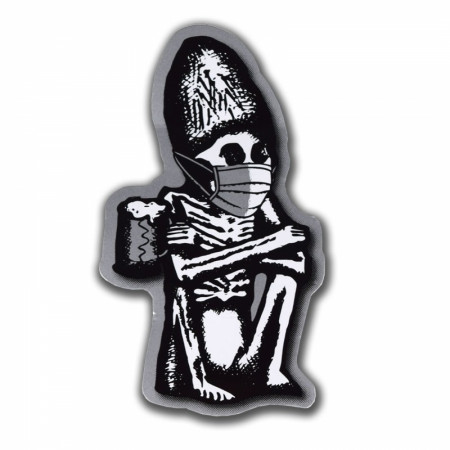 Dead Guy Ale Covid-19 Face Mask Sticker
