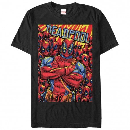 Deadpool Pool Black Mens T-Shirt