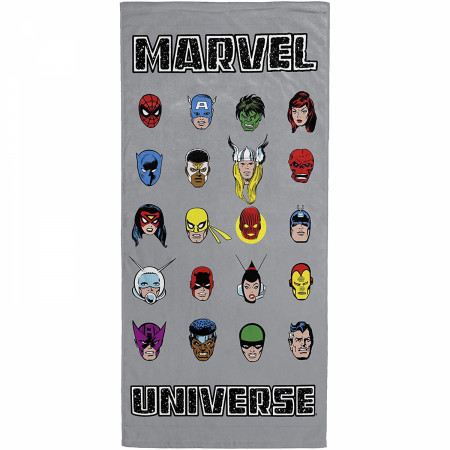 Marvel Universe 80th Anniversary Beach Towel