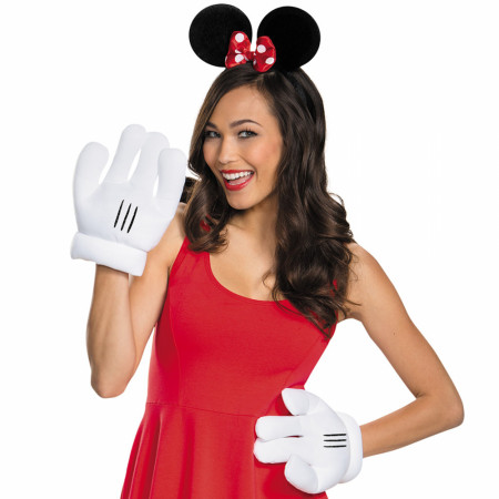 Disney Minnie Mouse Ears and Gloves Costume Set