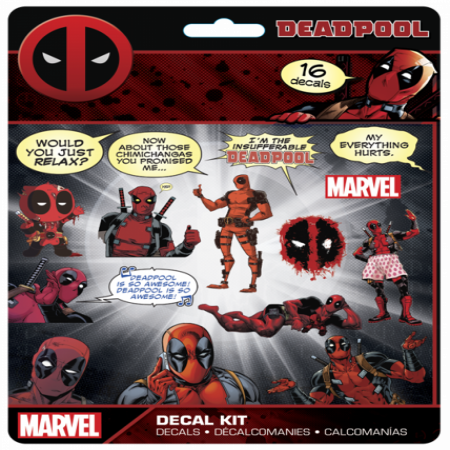 Marvel Deadpool 16 Piece Decal Kit