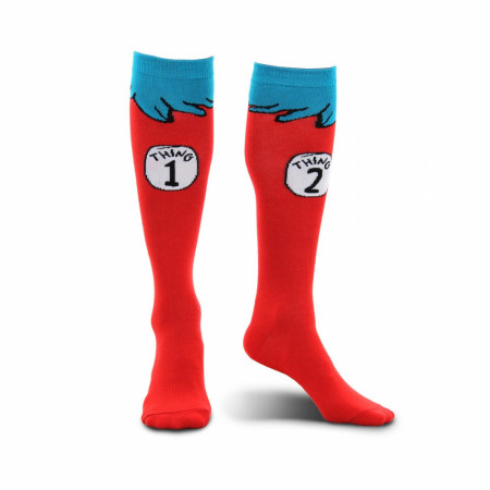 Dr Seuss Thing 1 and 2 Kids Socks