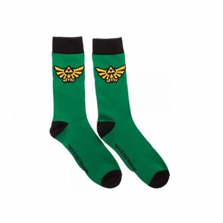 Nintendo Zelda Triforce Crest 2-Pack Crew Socks