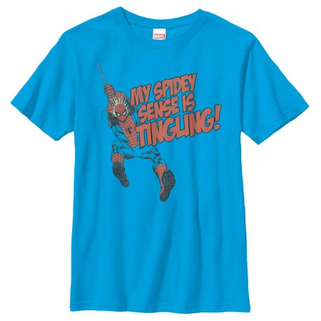 Spider-Man Spidey Senses Tingling Blue Youth T-Shirt