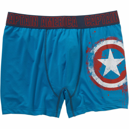 Captain America Distressed Shield Underwear Boxers Briefs