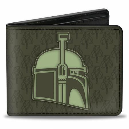 The Mandalorian Helmet Vegan Leather Wallet