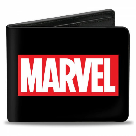 Marvel Box Logo Black Bi-Fold Wallet