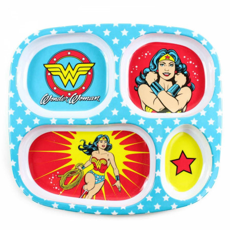 Wonder Woman Melamine Divided Plate