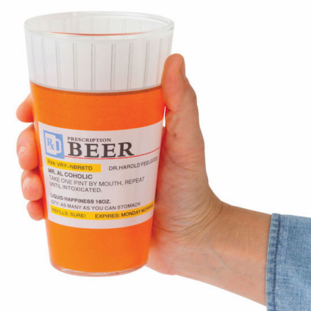 Prescription Bottle Pint Glass Set