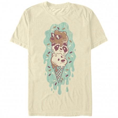 We Bare Bears Green Ice Cream Beige T-Shirt