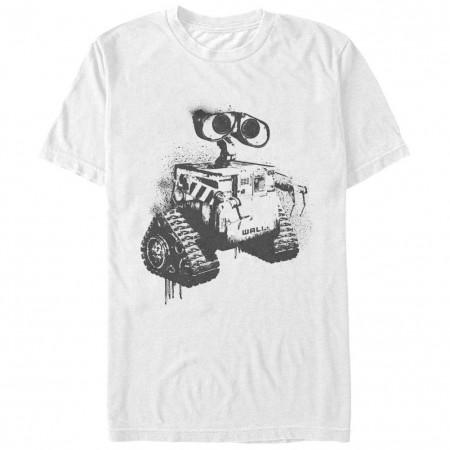 Disney Pixar Wall E Stencil WallE White T-Shirt