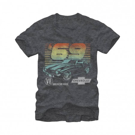 Chevrolet General Motors 69 Camero Gray T-Shirt