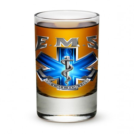 On Call For Life Emergency Medical Services Shot Glass