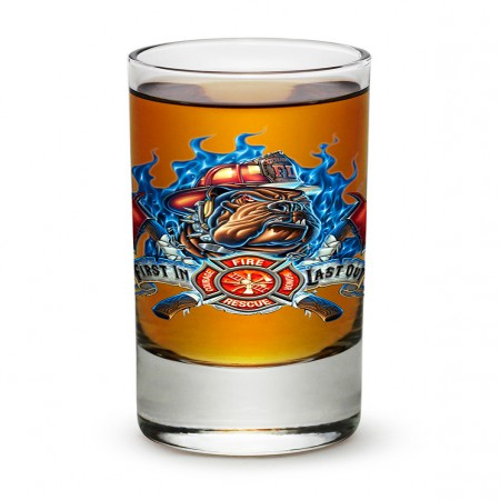 Firefighter First In Last Out Shot Glass