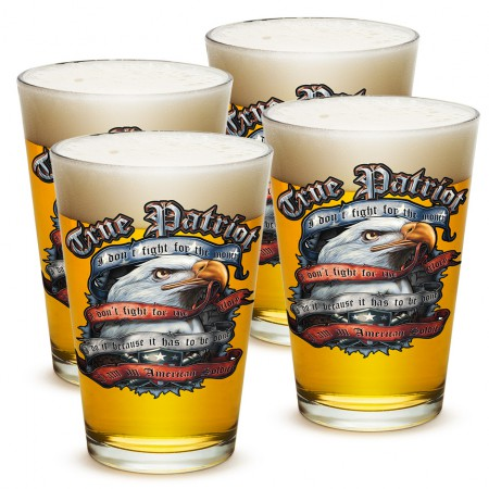 Four Pack True Patriot Soldier Beer Pints