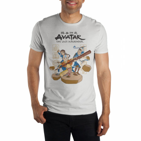 Avatar: The Last Airbender Group Stance Image T-Shirt
