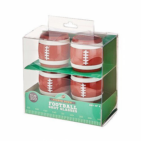 Fourth Down Set Of 4 Football Stackable Shot Glasses