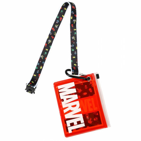 Marvel Logo Lanyard with ID Pouch