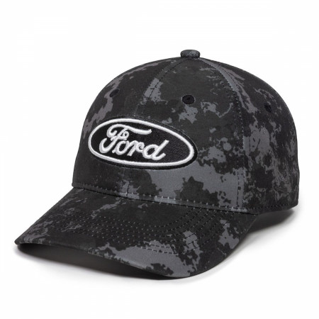 Ford Motor Company Logo Dark Camo Adjustable Hat