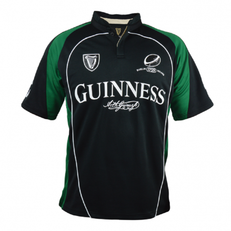 Guinness Black and Green Performance Rugby Jersey