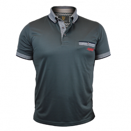 Guinness Premium Polo With Woven Collar and Pocket Trim