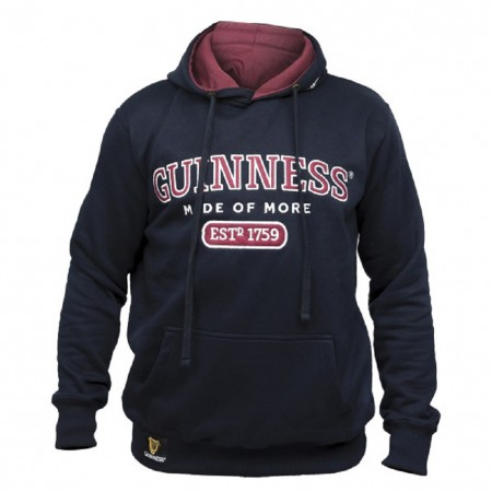 Guinness Beer Made of More Men's Black Hoodie