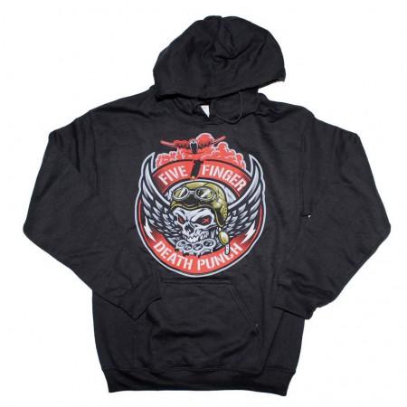 Five Finger Death Punch Bomber Patch Hoodie Sweatshirt