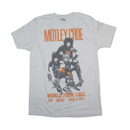 Motley Crue Vintage-Inspired World Tour 1983 T-Shirt