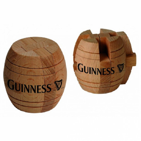 Guinness Barrel Wooden Puzzle