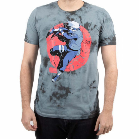 Naruto Kakashi Character Crystal Wash Tie Dye T-Shirt
